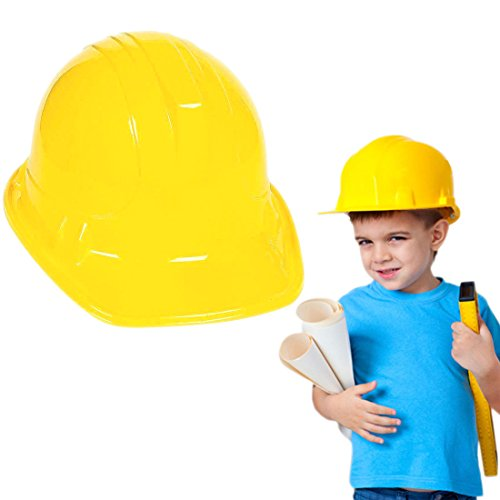 Bob The Builder Costume For Adults (Novelty Place [Party Stars] Plastic Construction Party Hats for Child, Teens and Adults (Pack of 12))