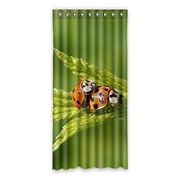 Ladybug Custom Polyester Soft healthy Window Curtain 52\