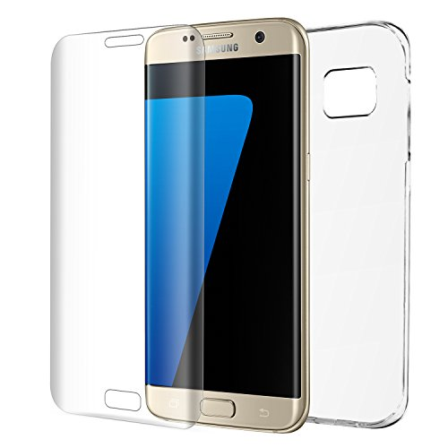 Redlink Galaxy S7 Edge Screen Protector Full Coverage 3D Glass tempered Screen Protector + Phone Case for Samsung Galaxy S7 Edge