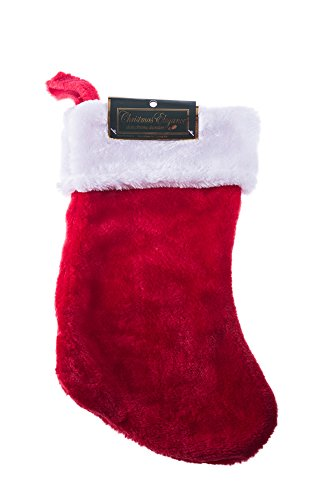 Classic Red and White Extra Soft Plush Christmas Stocking 16