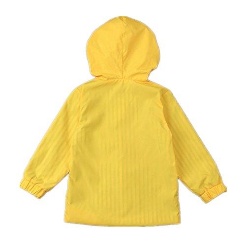 Birdfly Unisex Kids Animal Raincoat Cute Cartoon Jacket Hooded Zip Up Coat Outwear Baby Fall Winter Clothes School Oufits (5T, Quacker) by Birdfly (Image #3)