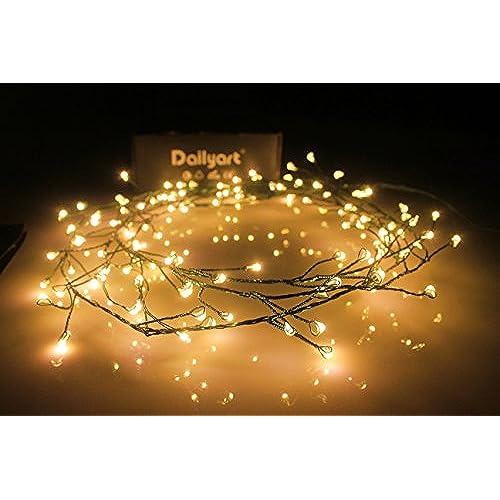 6feet 120 LED Starry Lights, Dailyart Battery Operated Waterproof Dark  Green Copper Wire Fairy Light String Light for Garland, Wreath, Patio,  Garden, ... - Christmas Lights Wreath: Amazon.com