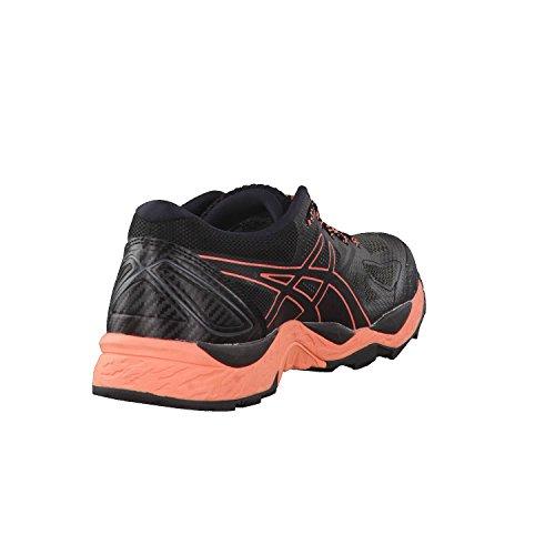 Asics Gel-Fujitrabuco 6 G-TX, Zapatillas de Running Para Asfalto Para Mujer Multicolor (Black/begonia Pink/black 9006)
