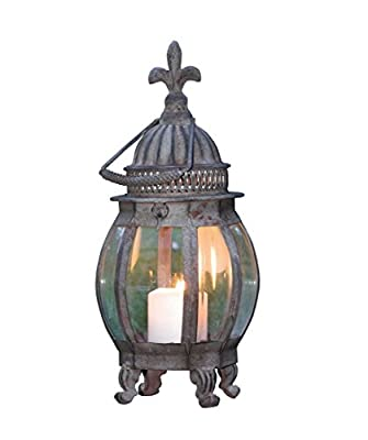 HGC French Lily Metal Hanging Lantern