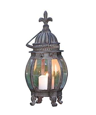 HGC French Lily Metal Hanging Lantern