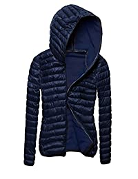 JXG Woman's Solid Warm Lightweight Hooded Short Puffer Padded Coat