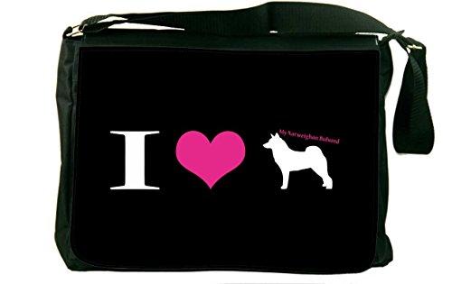 Rikki Knight I Love My Norwegian Buhund Dog Design Messen...