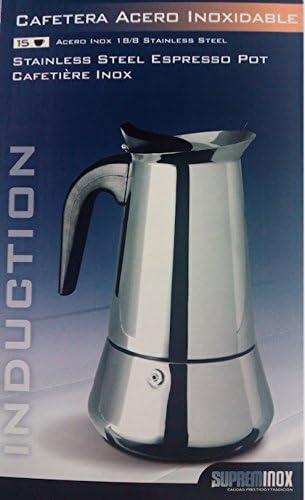 Supreminox 6115 Cafetera inducción, para 15 tazas: Amazon.es: Hogar