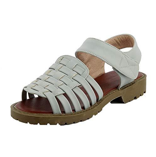 Grisclaro Tacón Aalardom Mujeres De Tsmlg005438 Mini Sandalias Velcro Vestir Sólido qgvHvzp