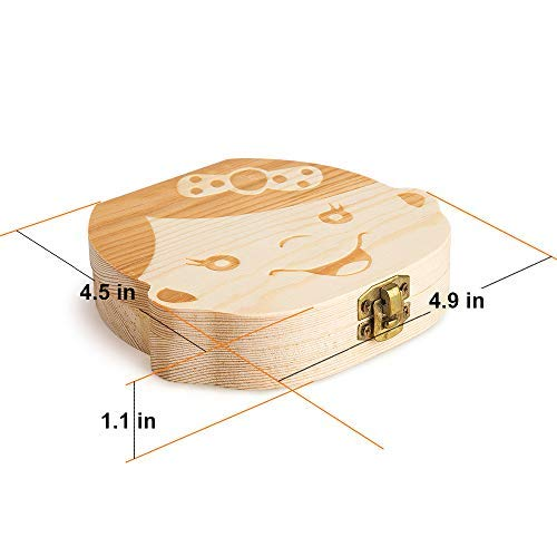 Girl Teeth Saves Box for Children and Girls Accumulation of Teeth Children in Souvenir Wood Gift
