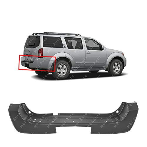 (MBI AUTO - Primered, Rear Bumper Cover for 2005 2006 2007 Nissan Pathfinder 05 06 07, NI1100247)