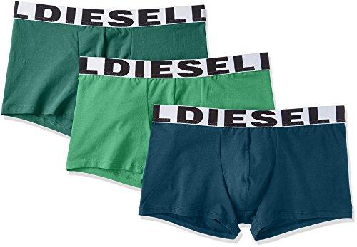 (Diesel Men's UMBX-Shawnthreepack Boxer 3pack, Green/Green/Blue, M)