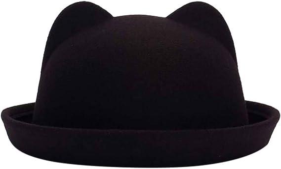 FEDULK Womens Classic Style Crushable Wide Brim Felt Floppy Solid Panama Hat Fedora Jazz Cap