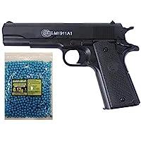COLT® Lote/Pack NFL Airsoft Pistola 1911 a1 h.p.a. (Joule <0,5) con un tobogán de Metal MAS 1000 Bolas 0.12GR PVC 6mm…