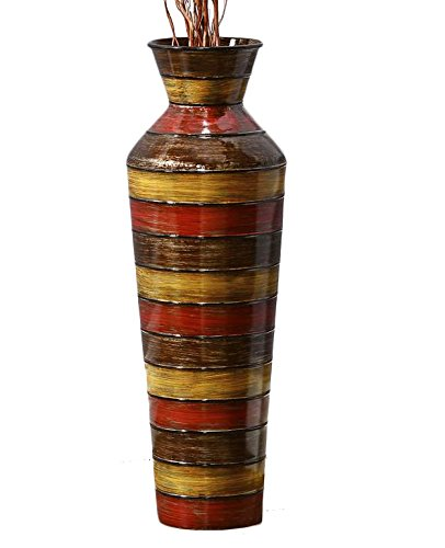 Gift Craft 085485 Large Iron Stripe Design Vase