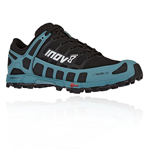 Inov-8 Womens X-Talon 230 - Lightweight OCR Trail Running Shoes - for Spartan, Obstacle Races and Mud Run - Black/Blue Grey 7.5 W US ()