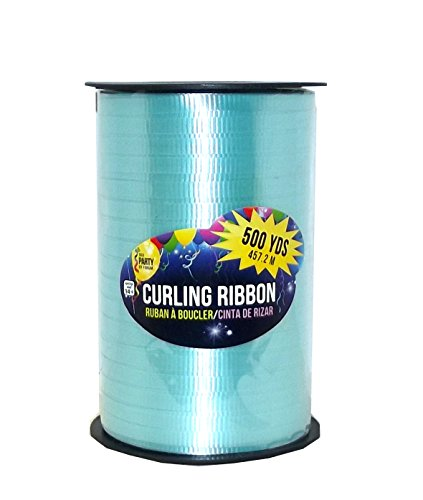 SKD Party by Forum Curling Gift Ribbon, 500 Yard Spool (Aqua Blue)
