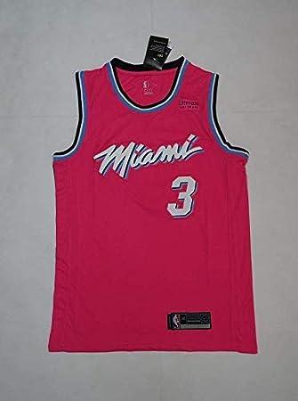 Nero City Edition Un Nuovo Tessuto Ricamato M Lalagofe Dwayne Wade Stile di Abbigliamento Sportivo Basket Jersey Maglia Canotta Miami Heat #3