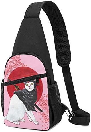 ボディ肩掛け 斜め掛け 浮世忍者猫 ショルダーバッグ ワンショルダーバッグ メンズ 軽量 大容量 多機能レジャーバックパック