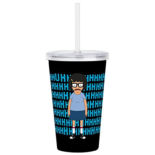 CafePress - Bob's Burgers Tina Uhh - Insulated Straw Cup, 20oz Acrylic Double-Wall Tumbler]()