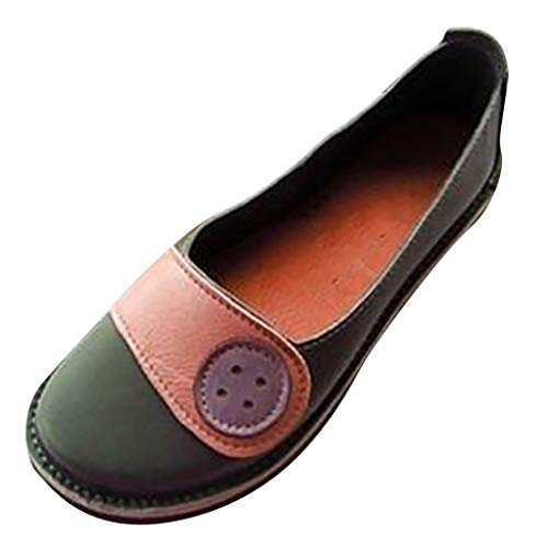 Women's KnitCasual Flats ✦◆HebeTop✦◆ Breathable Ballet Shoes Comfortable Square Toe Lightweight Slip On Loafers Orange