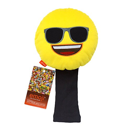 Emoji Unisex Sunglasses Novelty Golf Head Cover, Yellow by - Thump Sun Glasses