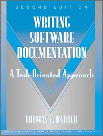 Writing Software Documentation A TaskOriented Approach Part Of - Software documentation