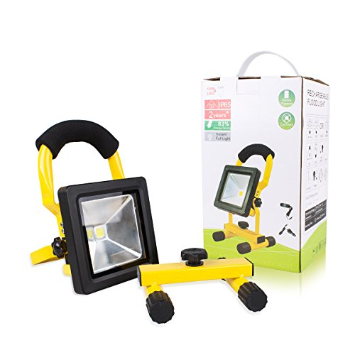 Morpilot LED Work Light, Waterproof Flood Lights Built-in Rechargeable Battery Portable Light for Outdoors Camping Emergency Light Workshop, Construction Site Garage, Garden, Lawn and Yard (4400mA) by Morpilot (Image #6)