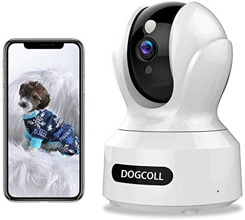 New 2020 DOGCOOL FHD Pet Camera Dog Camera 360 WIFI Pet Monitor Indoor Home Cat Cam with Alexa,Sound Detection, Motion Tracking and Alert, Two-Way Audio,Pan Tilt Zoom Baby Monitor with Night Vision