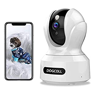 [New 2020]DOGCOOL FHD Pet Camera Dog Camera 360° WIFI Pet Monitor Indoor Home Cat Cam with Alexa,Sound Detection, Motion…
