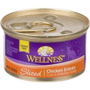 Wellness Sliced Canned Cuts Chicken Adult Canned Cat Food ( Value Bulk Multi-pack)