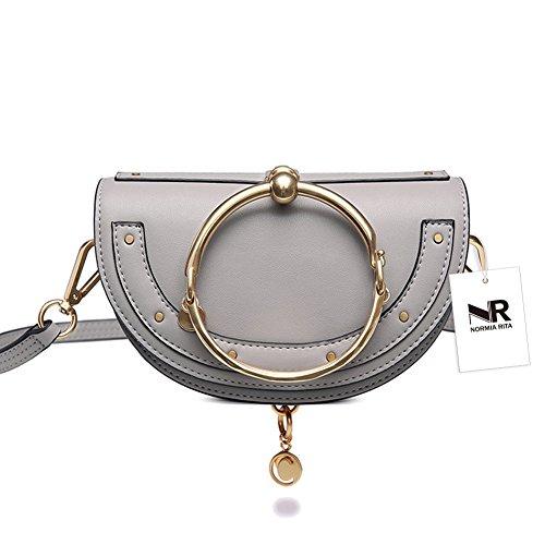 Metal Ring Convertible Tote Bag ZuverläSsige Leistung Kleidung & Accessoires