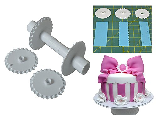 Sugarcraft Ribbon Cutter & Stitcher/Gumpaste cutter/Sugar cutting lace roller (Ribbon Cutter)