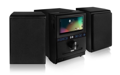 RCA Home Stereo System with Removable 7-inch Android Tablet and Two 20 Watt Bluetooth Speakers