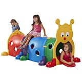 ECR4Kids GUS Climb-N-Crawl Caterpillar Tunnel   Indoor and Outdoor Fun Kids' Play Structure   Expandable with Other Sets, 7 Feet Long   ELR-035 model
