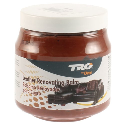 TRG Leather Renovating Cognac Balm 300ml for All Leather Materials Sofas, Leather Furnituter Etc. (Sofa $300)