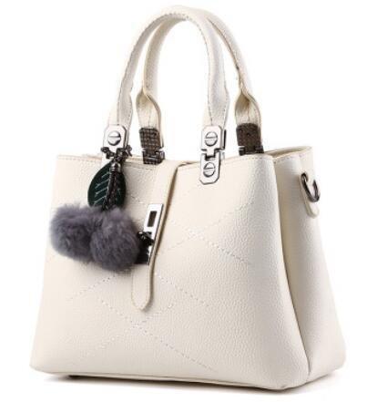 LDMB Bolsos para mujer Bolso de moda clásico dulce señora hombro Messenger , meters white meters white