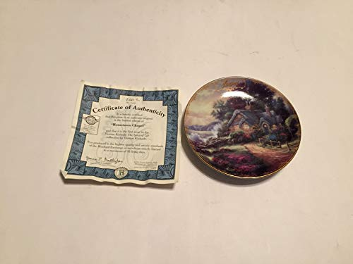 BRADFORD EXCHANG August A New Day Dawning Thomas Kinkade Collector Plate Small 5 1/2 INCHES