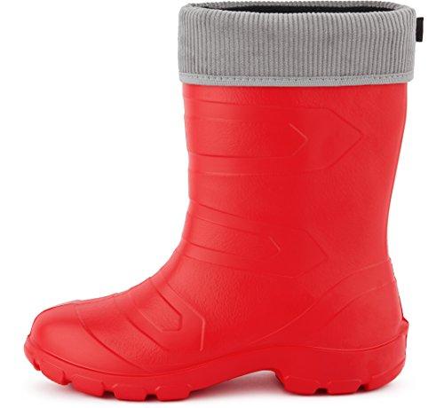 Antideslizantes Ladeheid Agua Rojo88 Gris de Muy Seguridad LALMG879 de Ligeras Zapatos Botas Mujer w1XBq1nH