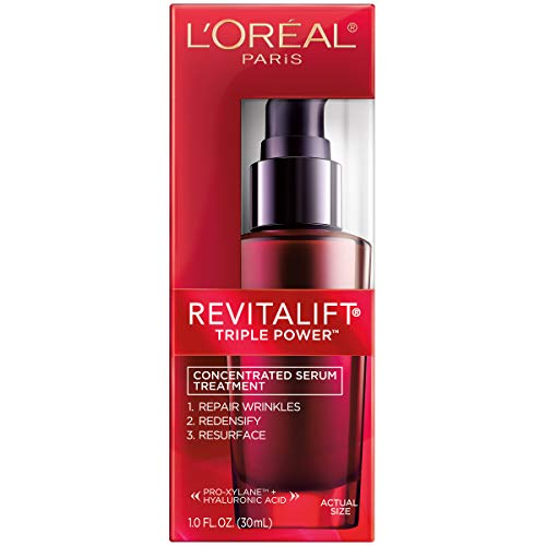 41BPDxXDMCL - L'Oreal Paris Skincare Revitalift Triple Power Concentrated Face Serum Treatment with Hyaluronic Acid and Pro-Xylane Anti-Aging Facial Serum to Repair Wrinkles