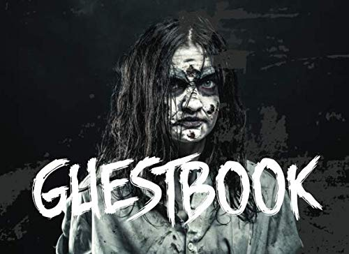 Guest Book: Halloween Party Guest Sign In With Lines For Names Messages & Well Wishes - Zombie Theme (Horror Party -