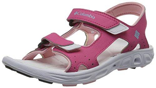 Columbia Unisex Youth TECHSUN Vent Sport Sandal, Wild Geranium, Cupid, 3 Regular US Little Kid ()
