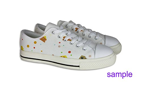 Womens Canvas Low Top Shoes Lovely Pattern Design Pattern Shoes05 UcUepZt