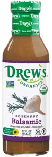 Drew's All-Natural Salad Dressing and 10 Minute Marinade, Rosemary Balsamic, 12-Ounce Bottle