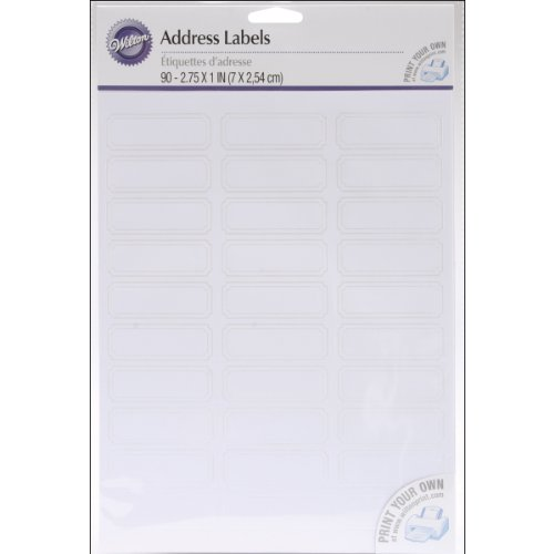 Wilton 90-Pack Address Labels, White