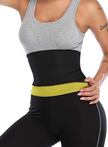 KIWI RATA Neoprene Belt Waist Trimmer Trainer Belt Sauna Sweat Slimming Belly Fat Burner Body Shaper Stomach Wrap