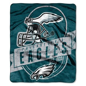 The Northwest Company Officially Licensed NFL Philadelphia Eagles Grand Stand Plush Raschel Throw Blanket, 50