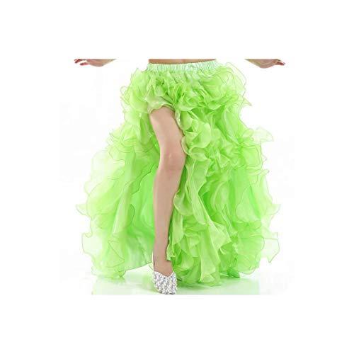 Belly Dance Skirt Sexy Side Slit Dancer Performance Costume Waves Skirt Adults Light -
