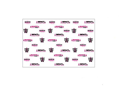 Pink Ribbon Carpet Breast Cancer Awareness Photo Prop Booth Backdrop Banner