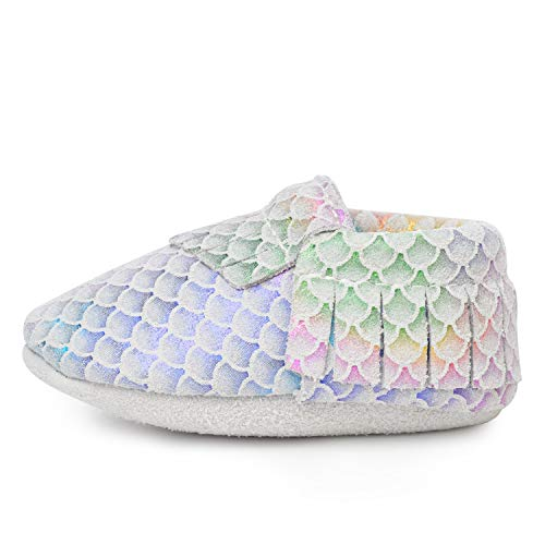 BirdRock Baby Moccasins - 30+ Styles for Boys & Girls! Every Pair Feeds a Child (US 9.5, Classic Mermaid)
